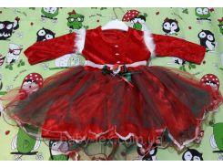 Платье Рождество 4 на 1-3 годика Турция