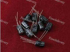 10x Конденсатор электролитический алюминиевый 1000мкФ 10В 105С