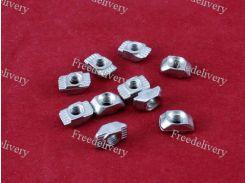 10x Гайка Т-образная M5 для 6мм паза алюминиевого профиля 20 серии
