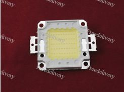Светодиодная матрица белая 50Вт 4000лм 30-34В, медь, качество