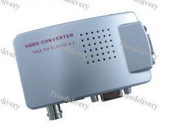 PC - TV конвертер 4в1 VGA - BNC + RCA AV + S-Video + VGA