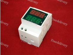 Вольтметр амперметр 2хLED 80-300В 0-99.9А DIN