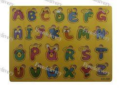 Обучающая деревянная доска Сегена, рамки вкладыши, англ. алфавит 3
