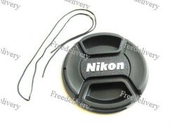 Крышка Nikon диаметр 58мм, со шнурком, на объектив