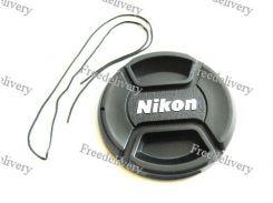 Крышка Nikon диаметр 55мм, со шнурком, на объектив