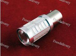 LED 1156 BA15S P21W лампа в автомобиль, 33 SMD, желтая