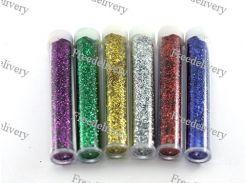 Глиттер декоративные блестки 50x5г 6 цветов, для ногтей нейл-арта