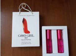 Женская парфюмированная вода Carolina Herrera Good Girl Red в подарочной упаковке 2х20 ml  (реплика)