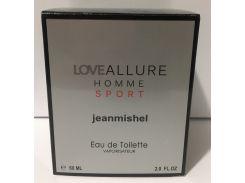 Тестер в подарочной упаковке jeanmishel loveAllure Homme Sport 60 мл