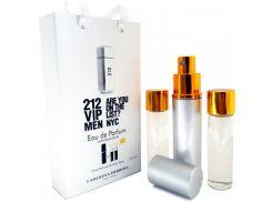 212 vip man мини парфюмерия в подарочной упаковке 3х15ml  (реплика)