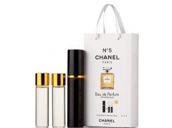Мини парфюмерия женская Chanel №т5 в подарочной упаковке 3х15 ml (реплика)