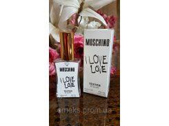Женский парфюм Moschino I Love Love (москино ай лав лав) тестер 45 ml Diamond ОАЭ (реплика)