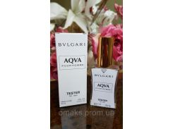 Мужской парфюм Bvlgari Aqua pour homme тестер 45 ml (булгари аква пур хом) Diamond ОАЭ (реплика)