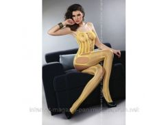 Эротические боди-комбинезон Livia Corsetti Almas Yellow
