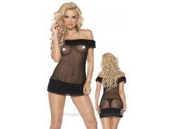 Комплект белья Эротический Roxana Mini Dress & String S-M/Black