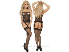 Эротические Sexy боди Roxana Fishnet Bodystockings L-XL/Black