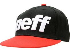 Кепка снепбек бейсболка Neff красно-черного цвета, Черный