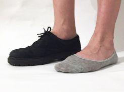 Носки подследки Loom серого цвета, Серый