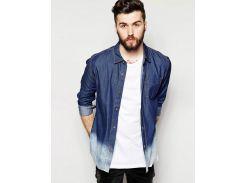 Облегченная джинсовая рубашка Bellfield тай дай, Голубой