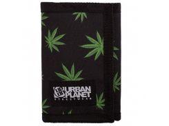 Кошелёк Urban Planet weed black, Черный