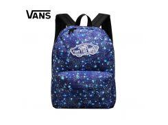 Синий рюкзак Vans Realm с космическим принтом, Синий