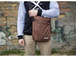 Большая коричневая классическая сумка на плечо Backcourt в размере а4, Коричневый