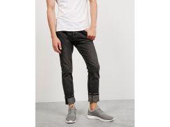 Черно-серые узкие джинсы Bershka с эффектом потертости, Темно-серый