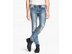 Зауженные джинсы H&M 867-810, Голубой