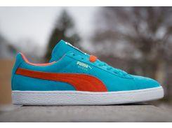 Голубые кроссовки Puma Suede Classic, Голубой