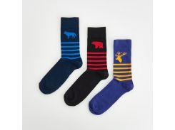 Набор носков Reserved с рисунками 3 шт., Разные цвета