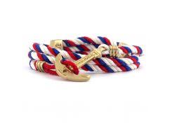Веревочный браслет с якорем Anchor Stuff Maritime New Atlantic Line Royal Red White, Разные цвета