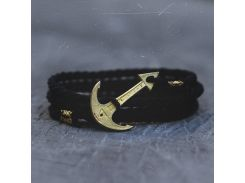 Браслет с якорем Anchor Stuff MARINE ROPE EDITION Black, Черный