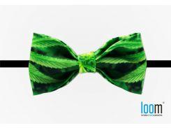 Галстук-бабочка с принтом марихуанны Loom (Weed), Зеленый