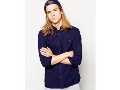 Синяя рубашка D-Struct, Синий