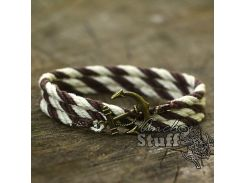 Браслет с якорем Anchor Stuff Atlantic Line Brown/White, Разные цвета