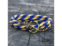 Браслет с якорем Anchor Stuff Atlantic Line Yellow/Blue, Разные цвета