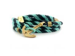 Веревочный браслет с якорем Anchor Stuff Maritime New Atlantic Line Charcoal Mint, Разные цвета