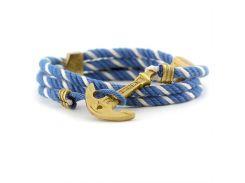 Веревочный браслет с якорем Anchor Stuff Maritime New Atlantic Line Sky White, Разные цвета