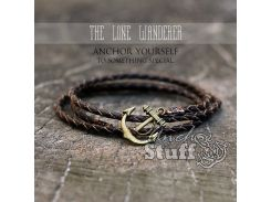 Кожаный браслет Anchor Stuff THE LONE WANDERER Brown, Коричневый