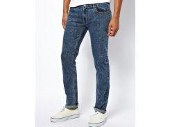 Зауженные джинсы Bellfield Reign с эффектом выбеливания, Синий