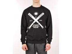 Черный свитшот Backcourt Streetwear, Черный
