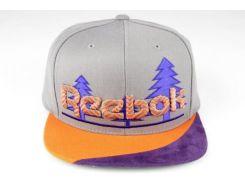 Кепка снепбек бейсболка Reebok Forest серый / оранжевый / фиолетовый, Разные цвета