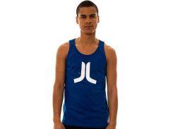 Майка Wesc синего цвета с белым логотипом, Синий