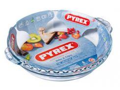 Форма с/к PYREX B&E форма стекл.кругл. 26х23см (1,3л) рефл с ручками (198B000)