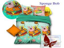 Стеганное покрывало Sponge Bob