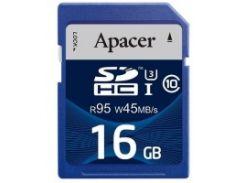 Карта памяти APACER SDHC 16GB Class 10 UHS-I (R95, W45MB/s)