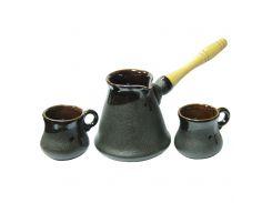 Набор турка керамическая 450 мл + 2ч-100 мл Рио Османтус