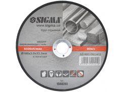 Круг отрезной по металлу и нержавеющей стали Ø180x2.0x22.2мм, 8500об/мин Sigma (1940241)