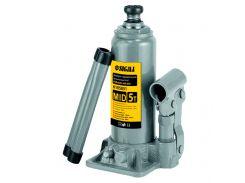 Домкрат гидравлический бутылочный mid 5т H 185-355мм Sigma (6105051)