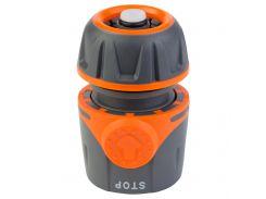 """Коннектор ½"""" быстросъёмный для шланга ½"""" аквастоп FLORA (5015494)"""